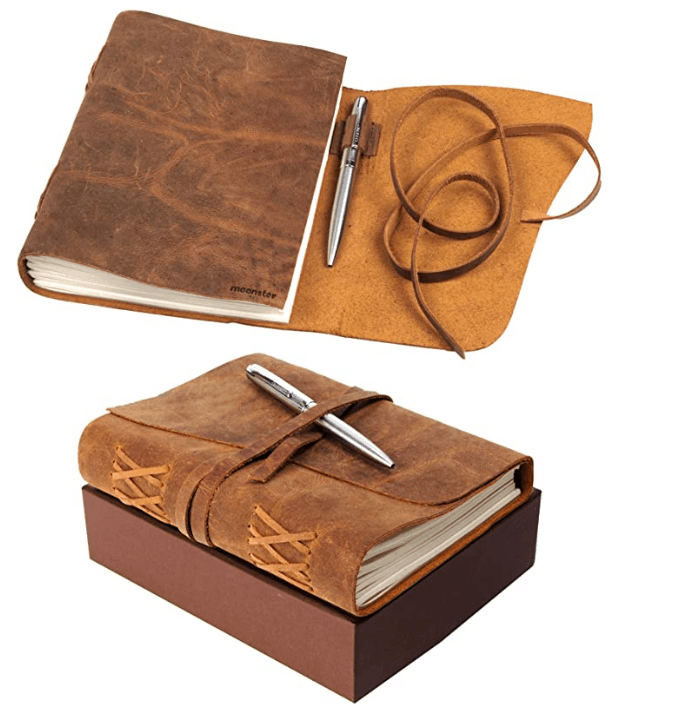 Leather Journal Gift Set