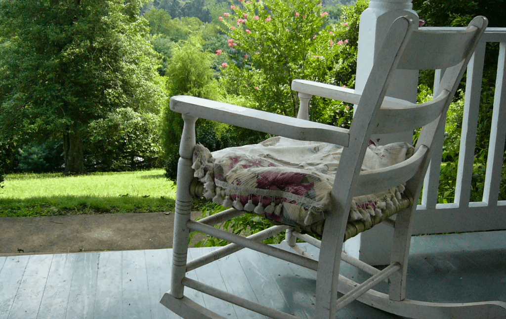 White Chair on Serene Porch