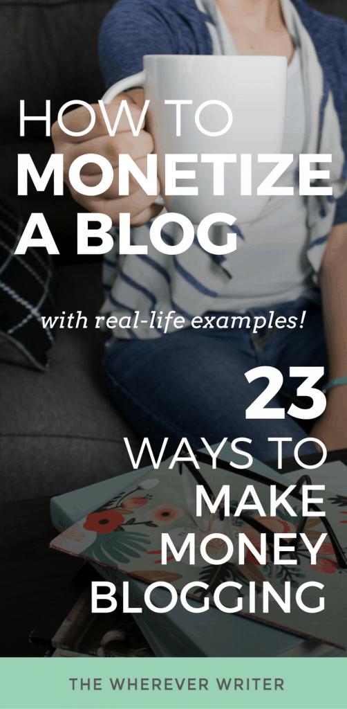How to Monetize a Blog - Pinterest
