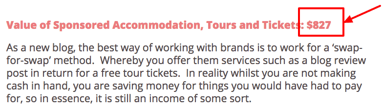 how to monetize a blog - press trips