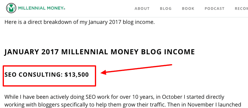 how to monetize a blog - seo services