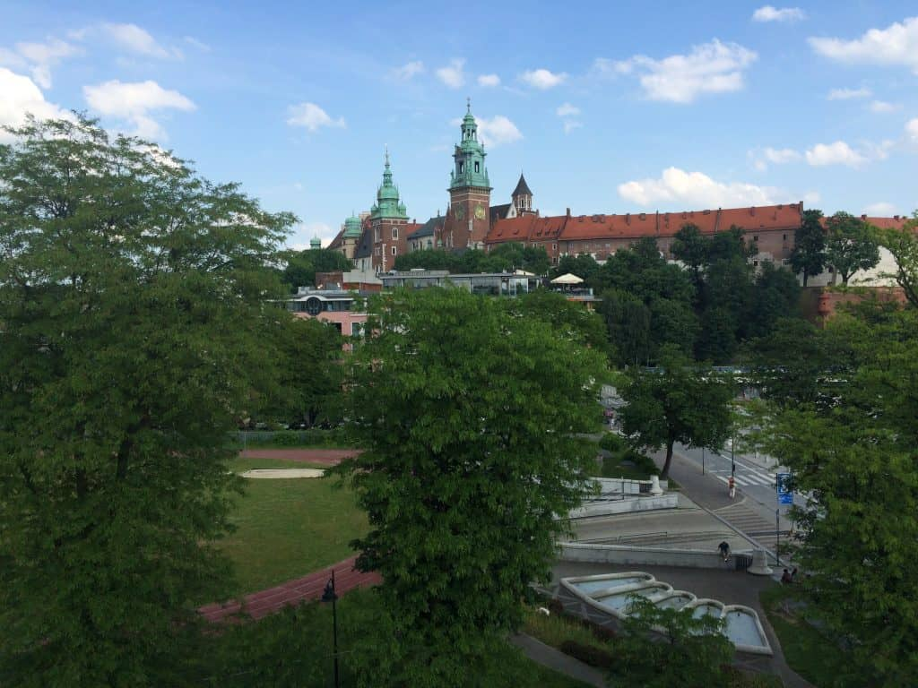 Eastern Europe Itinerary 2 weeks - Sheraton Grand Krakow view of Wawel Hill.JPG
