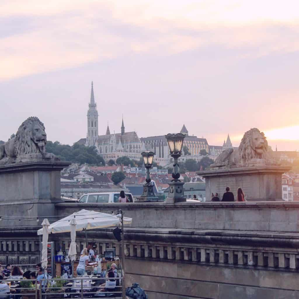 Eastern Europe Itinerary - Chain Bridge at sunset