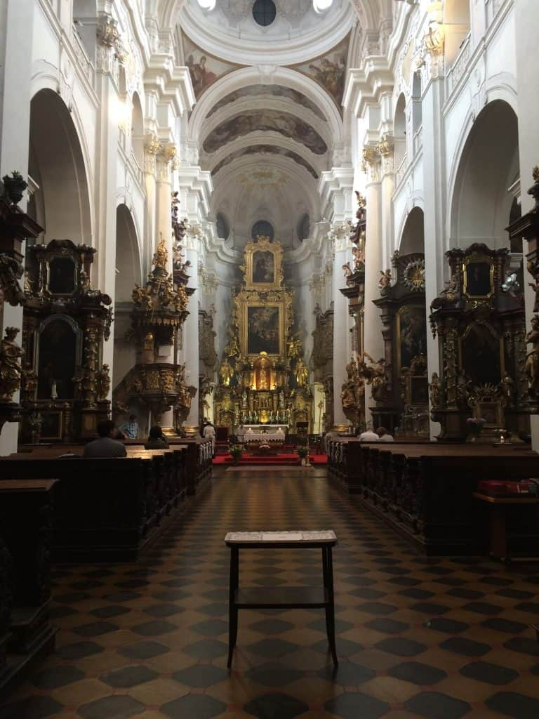 Inside St. Thomas Church in Prague