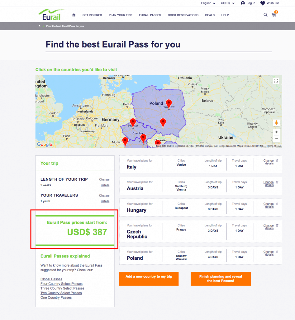 eastern europe by train- should I get a eurail pass?