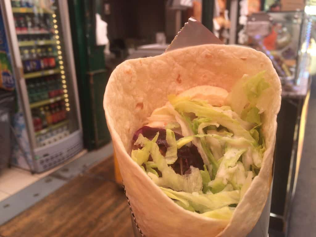 2 Days in Vienna - Falafel wrap at Naschmarkt