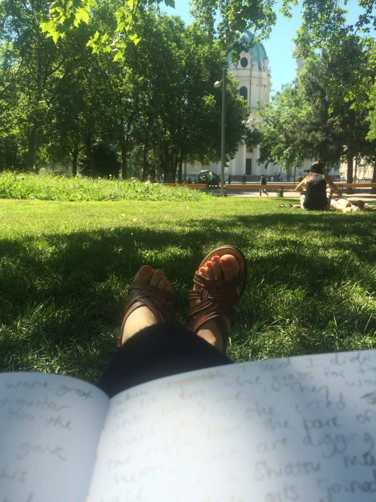2 Days in Vienna - Lounging in the Karlsplatz park in Vienna
