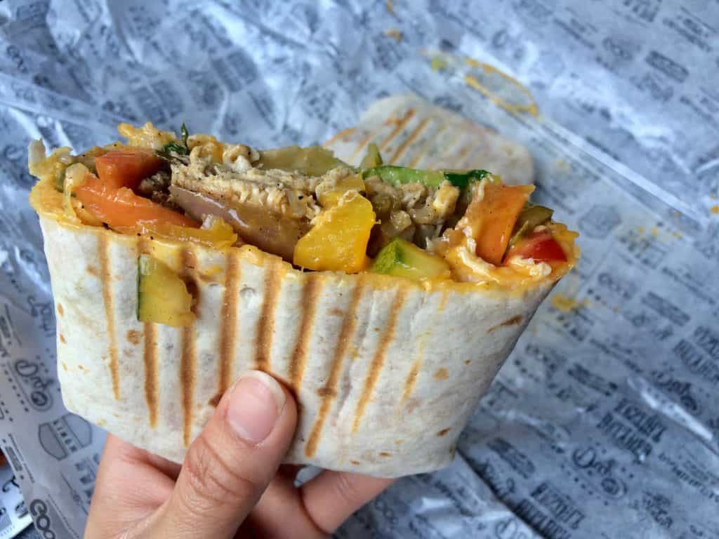 3 days in Budapest - Panineria cheesy chicken wrap