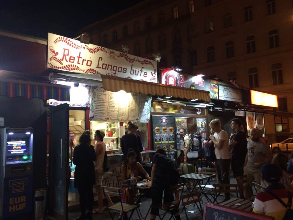3 days in Budapest - Retro Langos food stand in Budapest