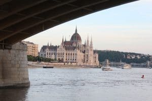 3 days in Budapest - view of the Parliament Building from the ferry ride