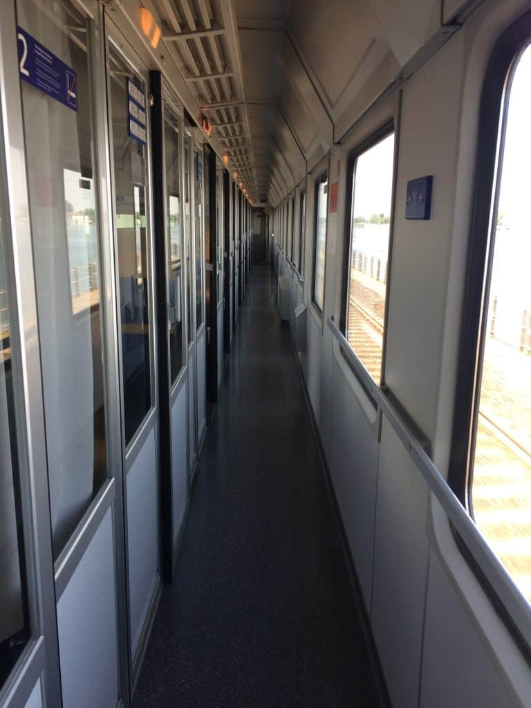 Venice to Salzburg OBB train compartments