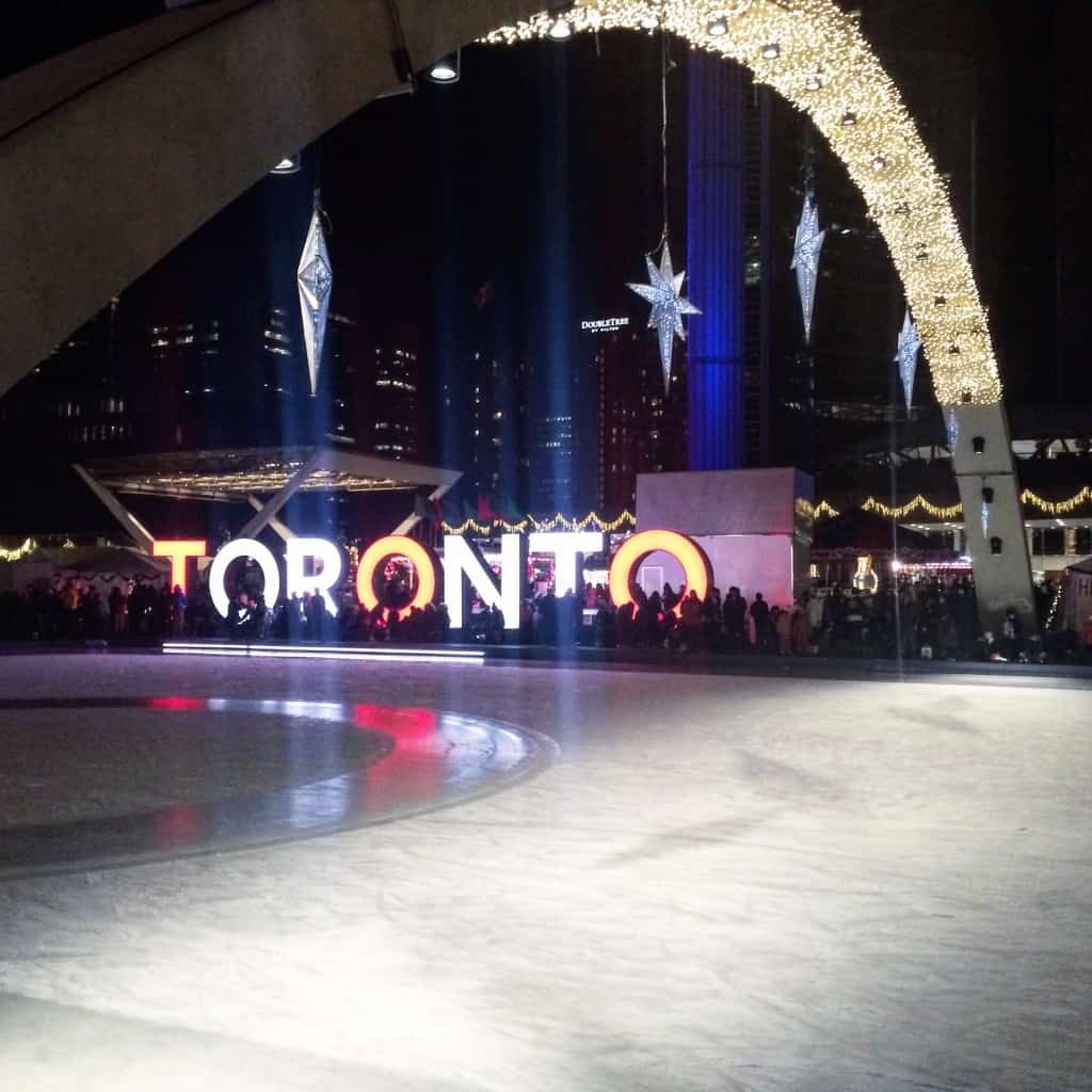 Free things to do in Toronto - public ice skating rink