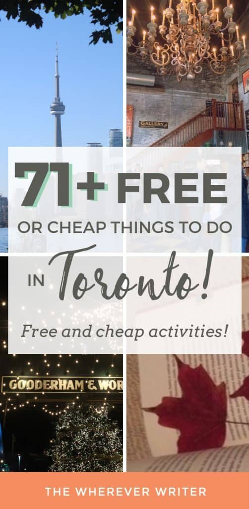 74 Free or Cheap Things to Do in Toronto - The Wherever Writer