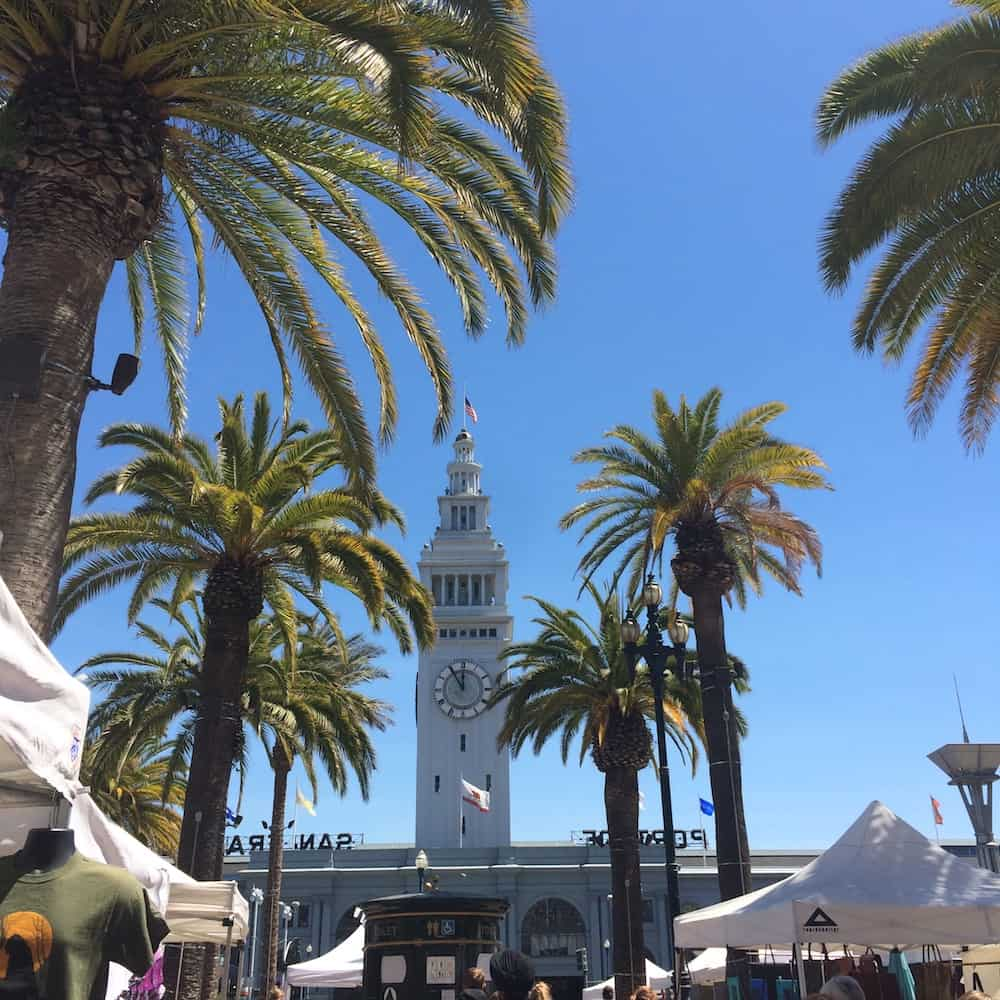 San Francisco Itinerary - Ferry Building and palm trees