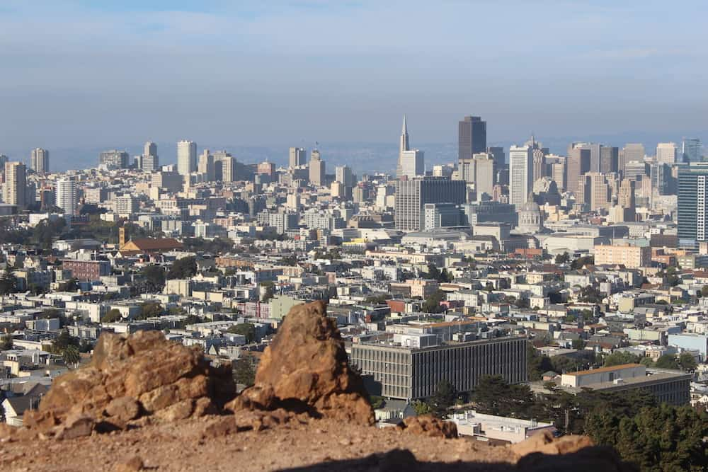 San Francisco Itinerary - View of SF from Corona Heights Park