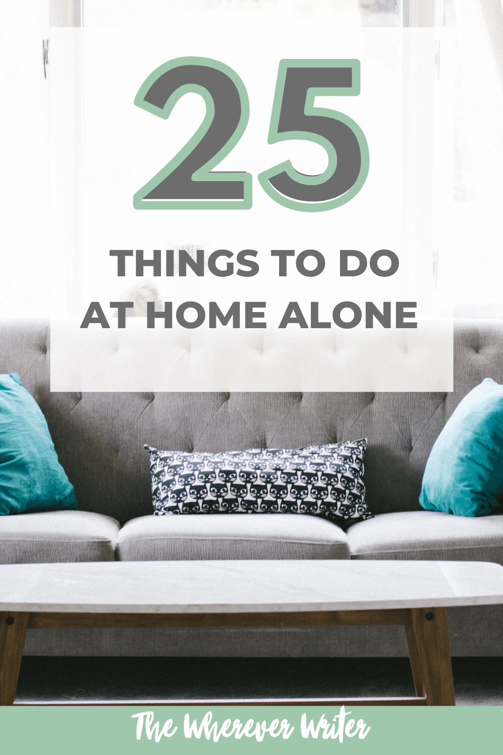 Here's a list of ideas of 25 things to do when you are home alone or bored! With this creative list you can get started today with learning something new, being productive, or just taking some time for your self!