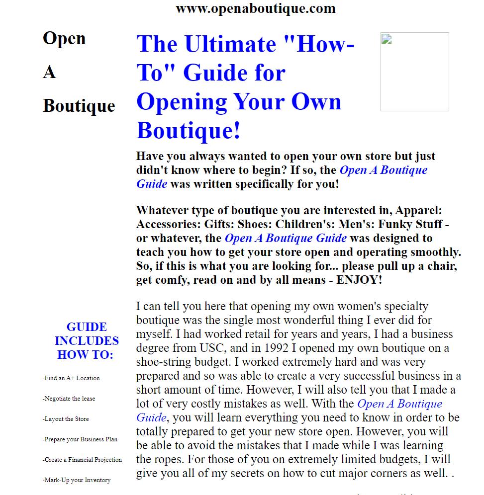 Online Course Ideas - Open a Boutique