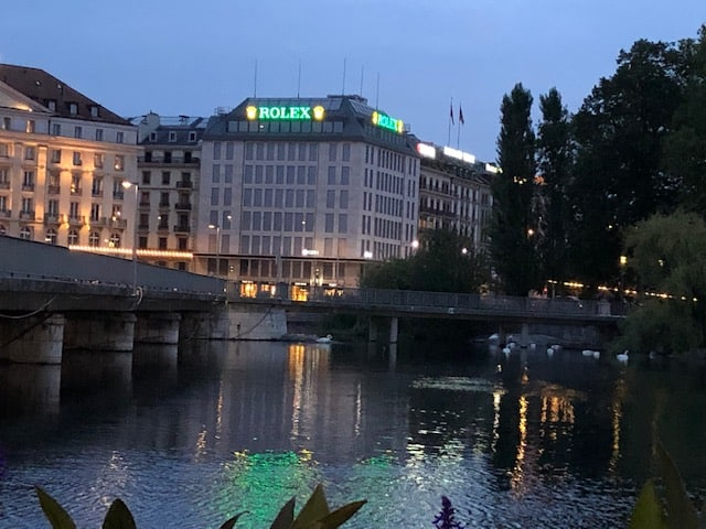 Early Morning view across the river from Rolex Store