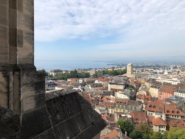 Ultimate Switzerland Bucket List - Lausanne Cathedral Town View