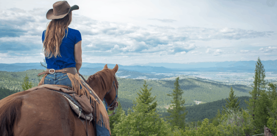 Montana Bucket List - A girl horse back riding