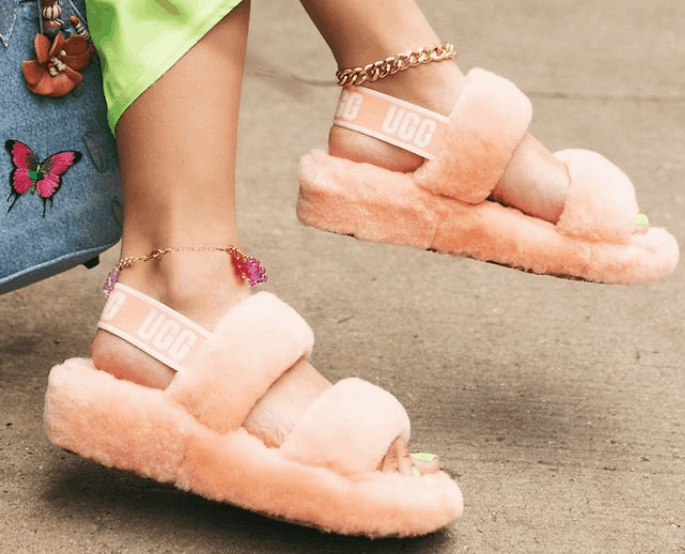 Oh Yeah Pink Ugg Slipper - Click Button Image to Buy Now