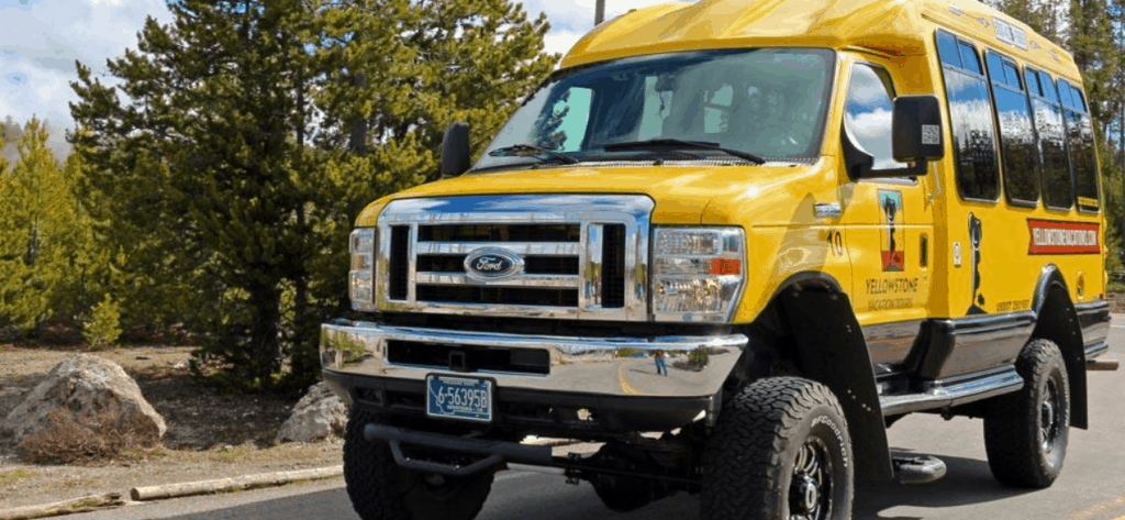 Yellowstone Summer Bus Tours Image of Yellow Van