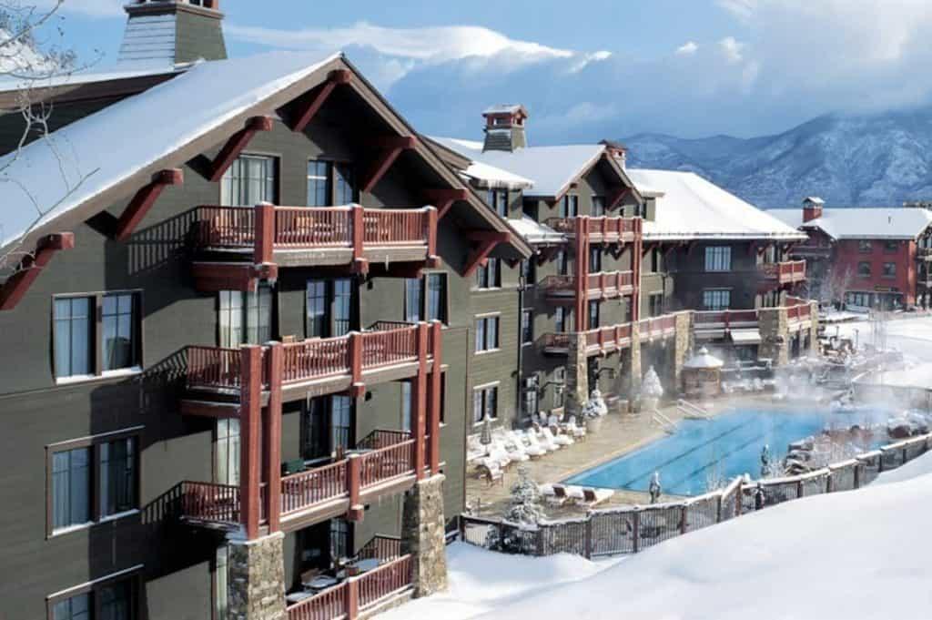 exterior of the Ritz resort in Aspen
